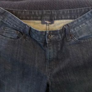 Ladies jeans.  Washed/clean.   Hardly worn